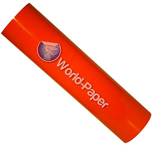 "15""x6'(2 Yards) T-shirt Heat Transfer Pu Vinyl for Cutter Press (Neon Orange)"