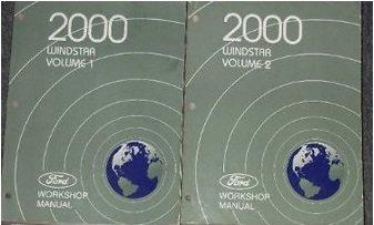 - 2000 Ford Windstar MINI VAN Service Shop Repair Manual Set OEM FACTORY DEALER 00