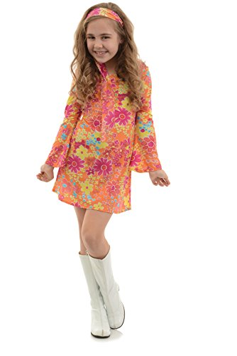 Underwraps Big Girl's Girl's Flower Child Costume