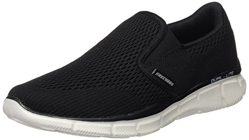 Skechers Sport Heren Equalizer Dubbelspel Slip-on Loafer Zwart / Wit