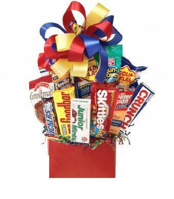 Junk Food Galore Gift Basket Idea (Gift Basket Themes Ideas)