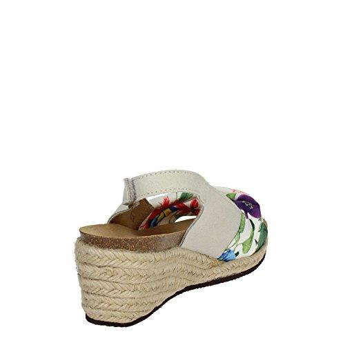 SCHOLL 60 Sandalo Tessuto Mindy Flower Zeppa Corda DR W67vw8qUUP