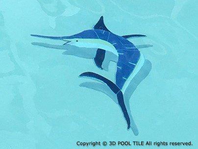 Marlin Swimming Pool Mosaic (Ceramic)