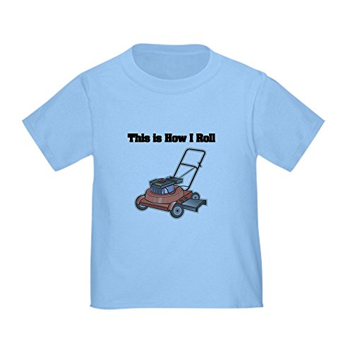 CafePress How I Roll (Lawn Mower) Toddler T Shirt Cute Toddler T-Shirt, 100% Cotton Baby Blue (Lawn Mower For Kids)