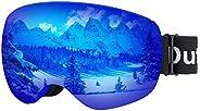 Dutton Polarized Ski Snowboard Goggles UV Protection Anti-Fog Magnetic Snow Goggles for Men Women Youth