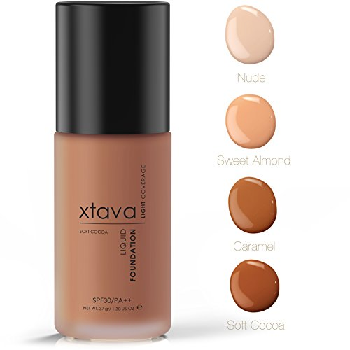 xtava Sheer Matte Liquid Foundation with SPF 30 - Natural, L