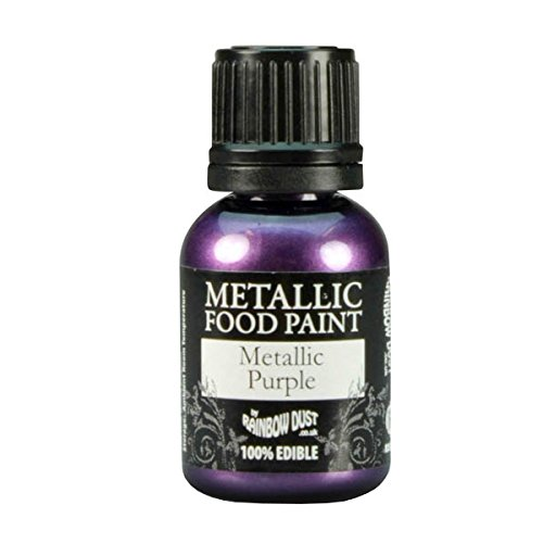 20x Rainbow Dust Metallic PURPLE Edible Food Paint Cupcake Cake Icing Decorating by Rainbow Dust