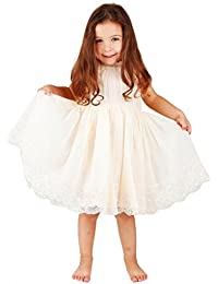 Bow Dream Flower Girl's Dress Lace