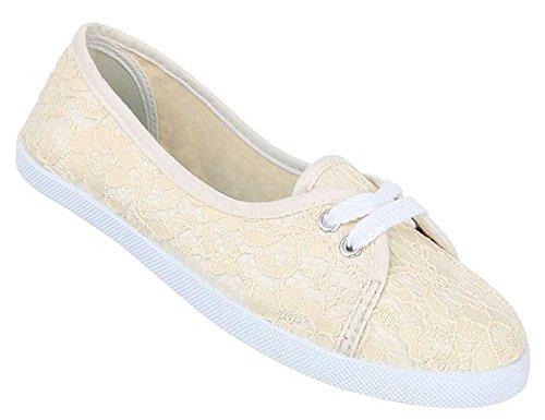 Damen Schuhe Halbschuhe Bequeme Leichte Slipper Trend im Sommer Beige