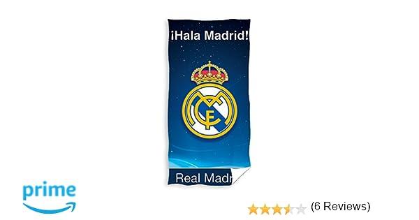 Real Madrid Toalla de Baño y Playa 100% Algodón de 75x150 cm. RM171106: Amazon.es: Hogar
