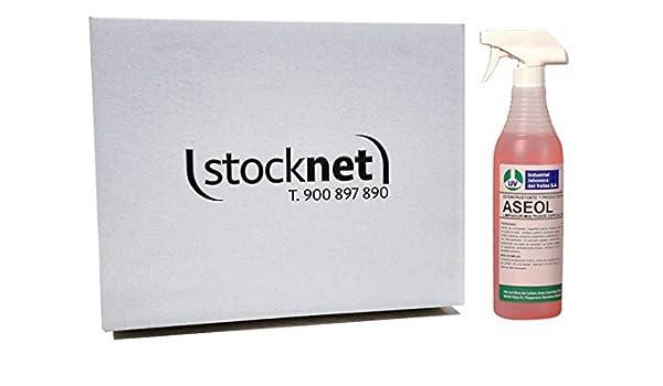 Caja de 20 unidades de ASEOL 750 ml: Limpiador de aseos multisuperfície: Amazon.es: Hogar