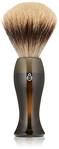 eShave Fine Badger Hair Shaving Brush, Smoke