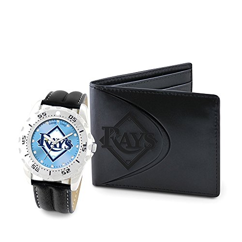 Game Time GTW-MLB-WWS-TB Tampa Bay Rays MLB Mens Watch & Wallet Set