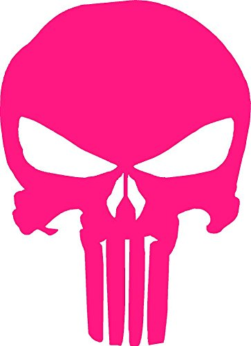 Soko Accents - Punisher Vinyl Decal Sticker Windows (hot pink, 3 x 2 inchs)