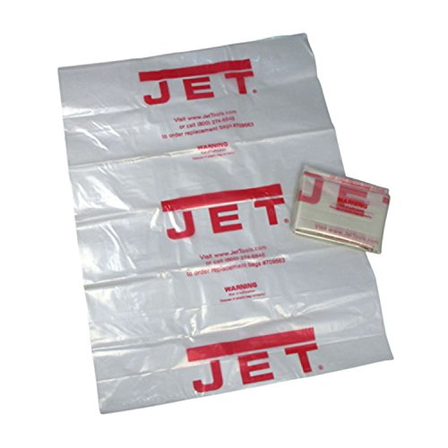 Filtered Dust Collection (JET 709565 14 in. Clear Plastic Collection Bag (5-Pack) for DC-650CK Dust Collector)
