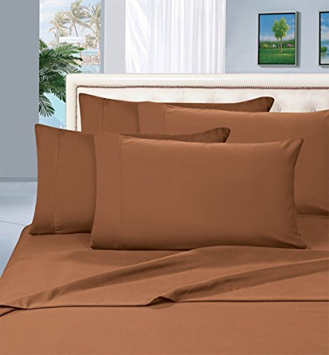 Best Seller Luxurious Pillowcases on Amazon! Elegant Comfort 1500 Thread Count Wrinkle,Fade and Stain Resistant 2-Piece Pillowcases- HypoAllergenic, Standard Size - Mocha Chocolate