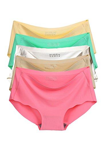 Qikafan - Shorts - para mujer UKNK9897Mixed 5 Pack