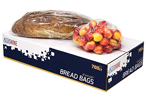 [700 Pack] Strong Clear Plastic Bread Bags - Perfect for Storing Loaves, Pastries, Baked Goods, Produce - For Home or Commercial Food Storage Solutions