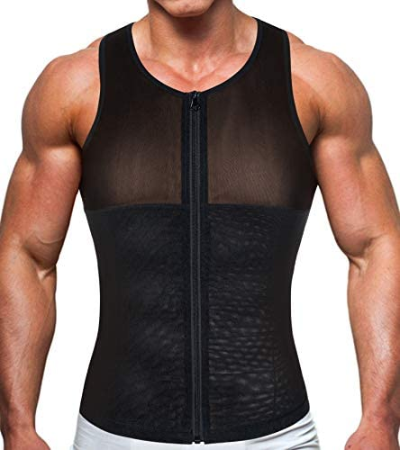 TAILONG Men Shirt Vest Slimming Underwear Body Shaper Tight Tank Top Waist Trainer Tummy Control Girdle