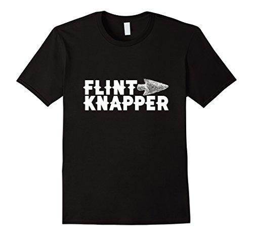 Mens Flintknapper Arrowhead T-Shirt for Flintknapping Artist 3XL Black