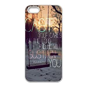 Personalized Durable Case Cover for iPhone 5,5S with Brand New Design Bible Verses Christian Quotes