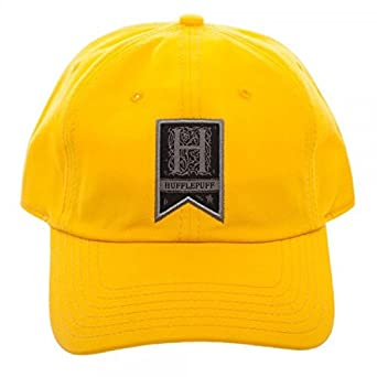 7975d6fd0 Amazon.com: Harry Potter Hufflepuff Woven Label Traditional Adjustable Hat  Cap: Clothing