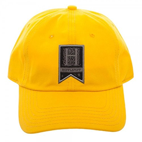 Harry Potter Hufflepuff Woven Label Traditional Adjustable Hat Cap 5fda6038e0ac
