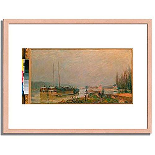 アルフレッドシスレー「At the riverbank of the Seine. 1879 」 インテリア アート 絵画 プリント 額装作品 フレーム:木製(白木) サイズ:M (306mm X 397mm) B00N6ERHFI 2.M (306mm x 397mm)|2.フレーム:木製(白木) 2.フレーム:木製(白木) 2.M (306mm x 397mm)