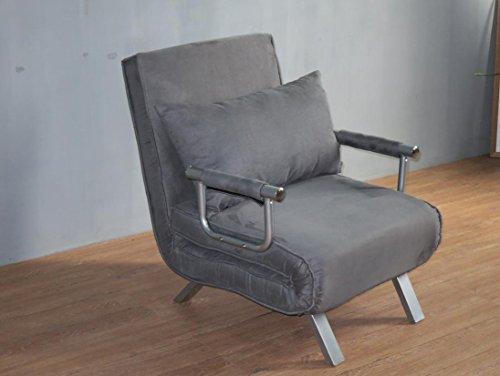 Italfrom - Sillón cama de 1 plaza (67 x 69 x 83 cm), color gris