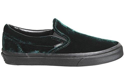 Vans Classic Slip Op Velours Groen / Zwart Heren Skate Schoenen Maat 12