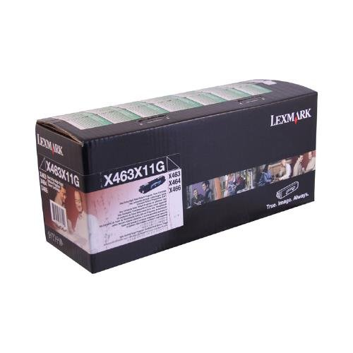 Lexmark MFP X463 Black Toner Cartridge - OEM - OEM# X463X11G - Extended Yield - 15K - Also for X463 de and ()