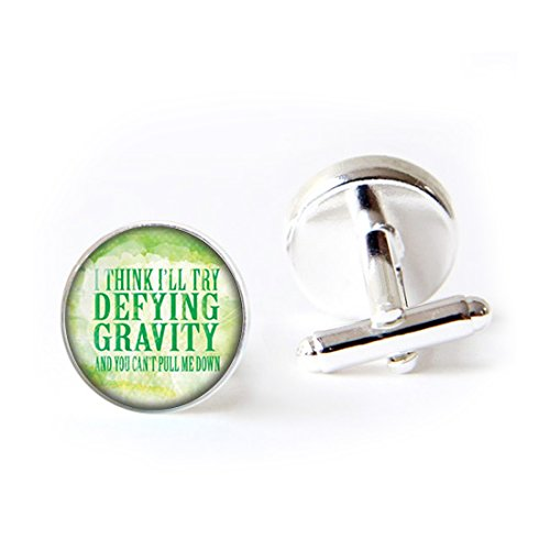 LEO BON Mens Classy Cufflinks Wicked The Musical Defying Gravity Deluxe Wedding Business Cuff Links Movement Shirts Studs Button from LEO BON