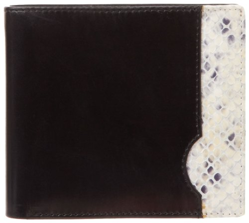 leatherbay-50135-italian-calf-leather-with-snake-print-double-fold-wallet-black-snake-print