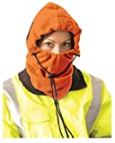 Stay Warm - 3-in-1 Fleece Balaclava - Where it 3 Different ways! - Hi-Viz Orange-12-PACK