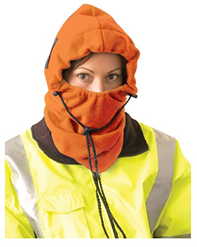 Stay Warm - 3-in-1 Fleece Balaclava - Where it 3 Different ways! - Hi-Viz Orange-24-PACK by Haynesville