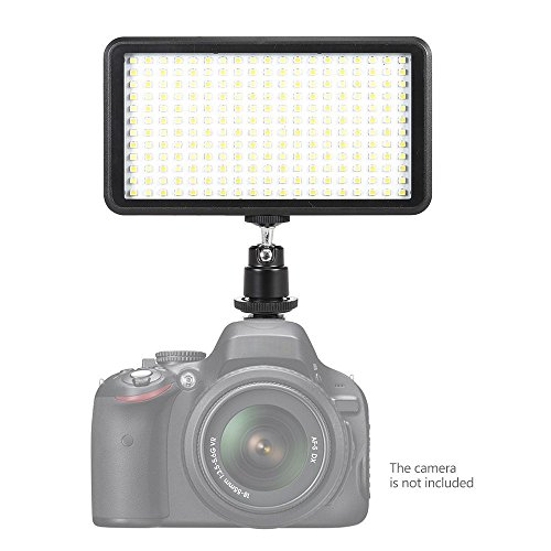 Andoer Ultra-thin 228pcs LED Video Light Panel 3200K / 6000K Dimmable Studio Photography Lamp for Canon Nikon Sony Pentax Panasonic Olympus Digital SLR Cameras Camcorders by Andoer