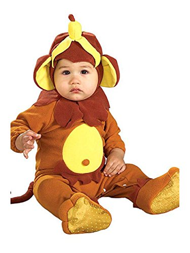 [Rubies Monkey See Monkey Do Child Romper Halloween Newborn Costume | 885620] (Child Monkey Costumes)