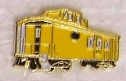 Hat Tie Tac Push Lapel Pin Yellow Train Caboose New