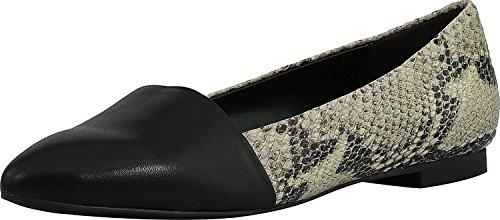 Isaac Mizrahi Live! Womens Danielle Leather Ankle-High Flat Shoe Grey Snake Qb5MCW1