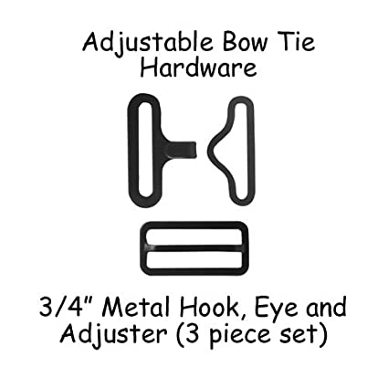 Bow Tie Hardware Clips Black 19mm 3//4 10 Sets