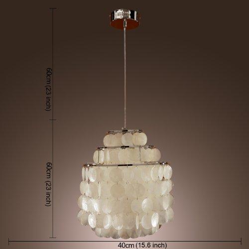Lightinthebox modern white shell pendant chandelier mini for Shell ceiling light fixtures