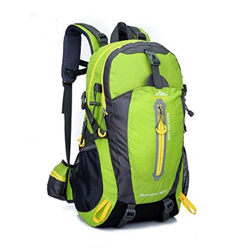 LQABW Hombro De Tela Oxford Montañismo Viajes Combinados Hombres Y Las Mujeres El Bolso Que Recorre Mochila 40L,Blue Green