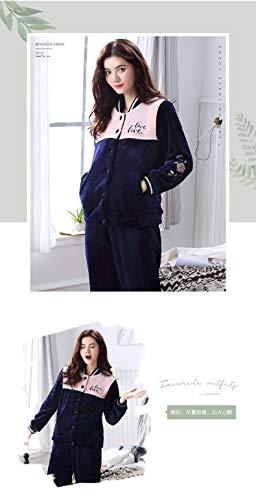 M150 Cardigan Service Fleece 162cm Thick Xl162 50kg Long 65kg Coral And Pajamasx Suit Home Autumn Flannel Pajamas Women 58 sleeved Winter 168cm 30 0PCHq