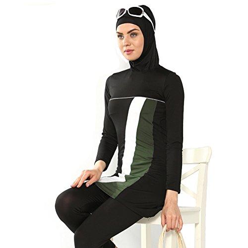 Free fisher Musulmán trajes de baño traje de natación swimwear ropa de playa femenino modelo nuevo 2016 negro