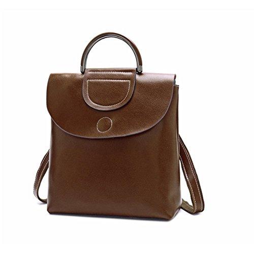 Handbag Bag Shoulder Bag Leather Qiaoy Female Female Multifunction Leather Shoulder Coffee Wax Oil Bag Messenger Leather 5qEPH8Ew