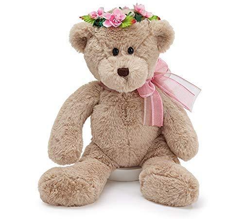 burton+BURTON 14 Beige Bear with Pink Flower Crown