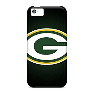 Case88zeng Apple Iphone 5c Shock Absorption Hard Phone Case Provide Private Custom High Resolution Green Bay Packers Image [SRf1016hzgA]