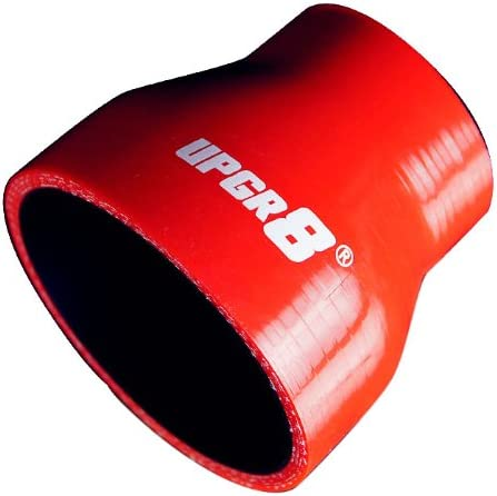 76MM , Black to 3.0 Upgr8 Universal 4-Ply High Performance Straight Reducer Coupler Silicone Hose 57MM 2.25