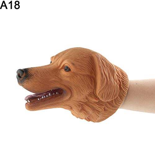 LeSharp Dolls & Stuffed Toys, Realistic Cartoon Animal Head Hand Puppet Role Play Toy Halloween Party Decor - A18# -