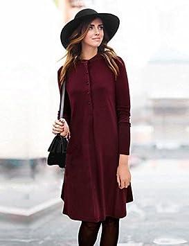 LYQ/ De las mujeres Tallas Grandes Vestido Tallas Grandes / Vintage Un Color Hasta la